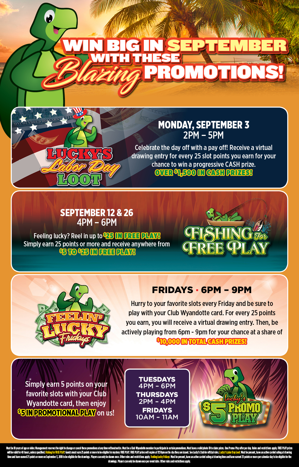 Lucky Turtle Casino Promotion Details